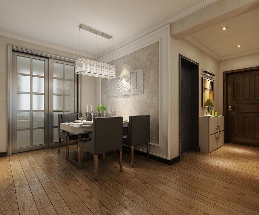 餐厅效果图;强化复合木地板