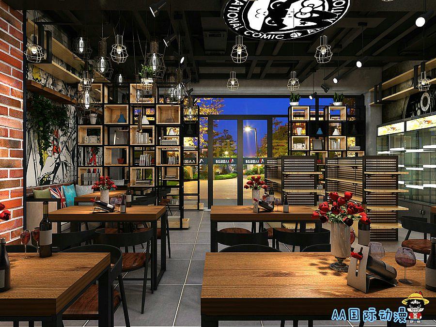 AA动漫国际空间餐饮店3Dv动漫效果图|主题|室现代住房设计装修图片