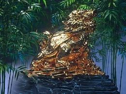 神兽霸下,金身镇财——octane渲染