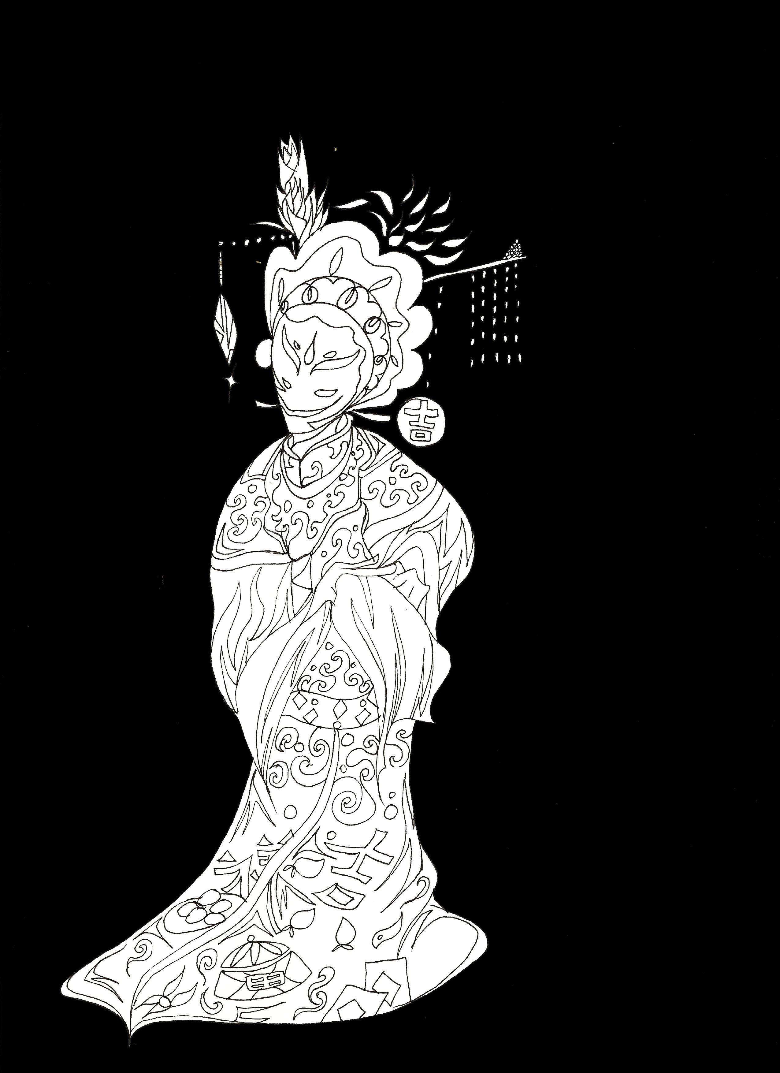 黑白古装女仕