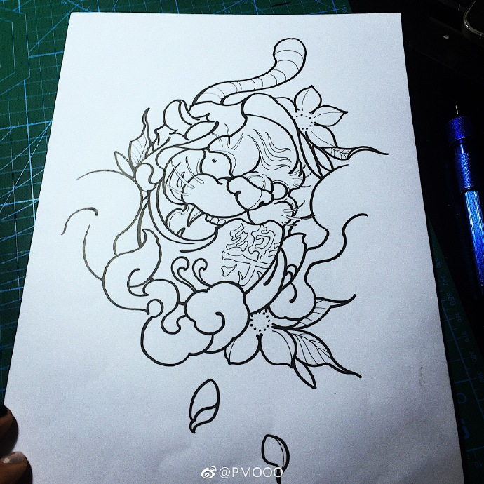 达摩始祖纹身手稿分享展示
