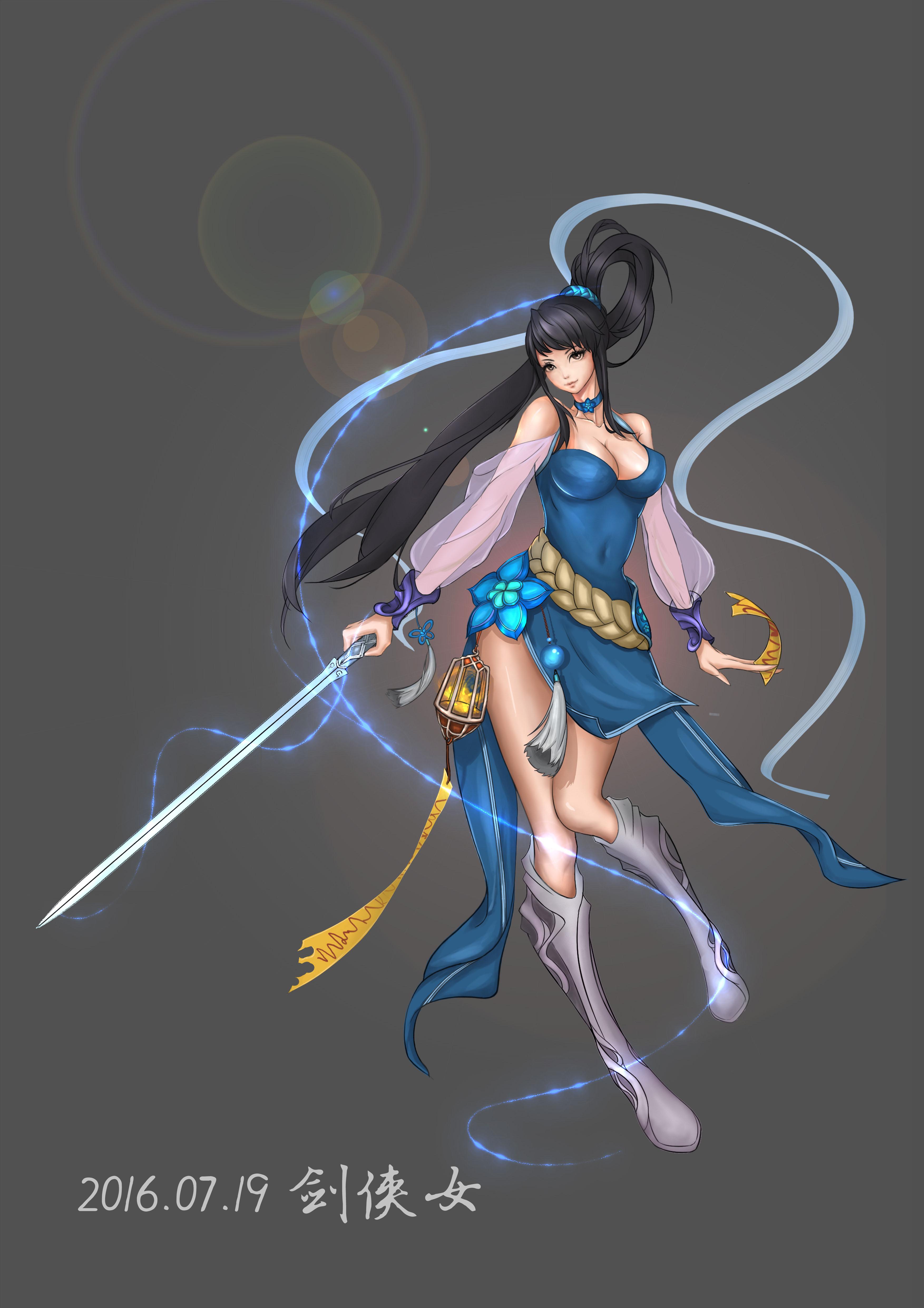 角色_设计的东方剑侠女性角色,参考《剑灵》