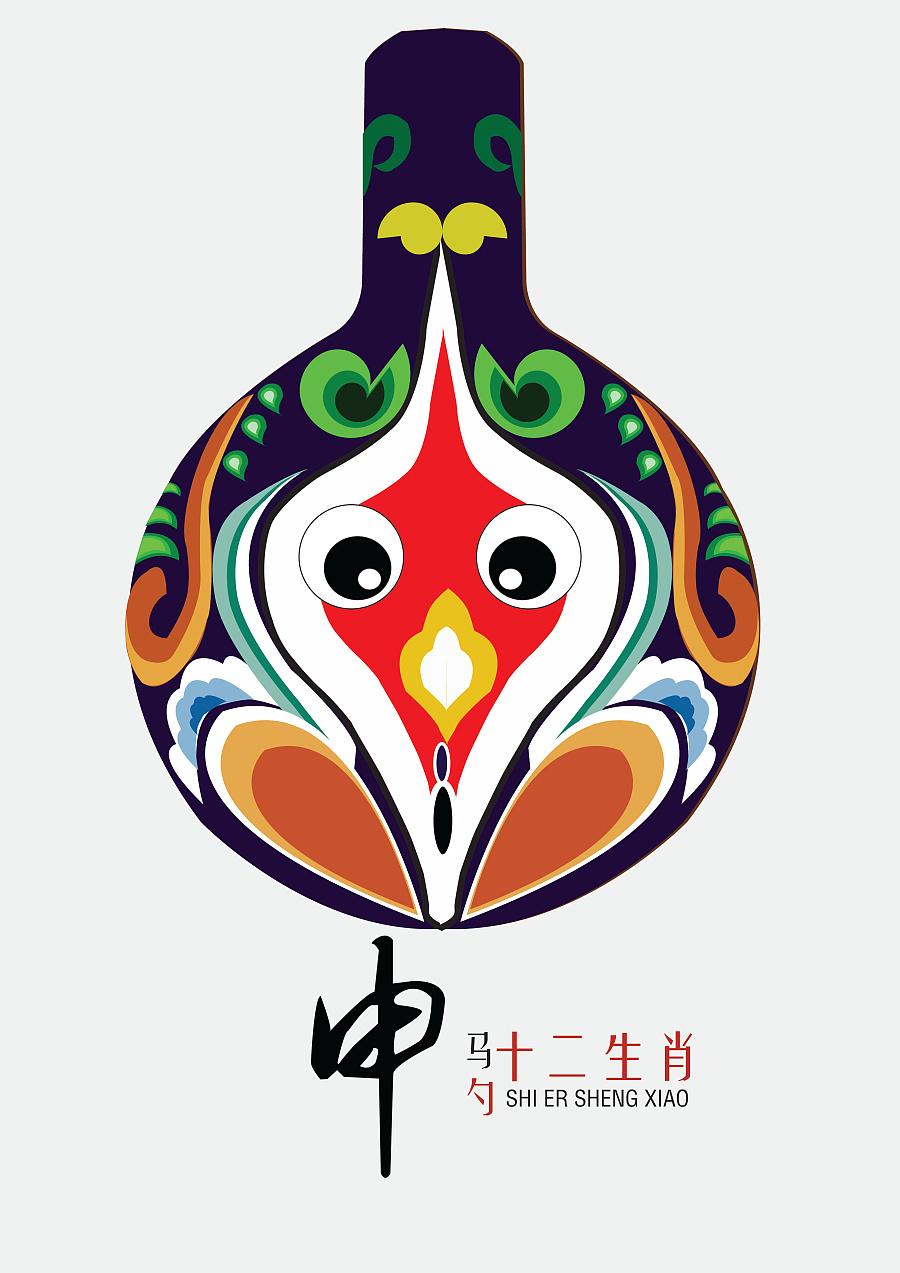 中国民间马勺脸谱 十二生肖 14年毕业设计 总结