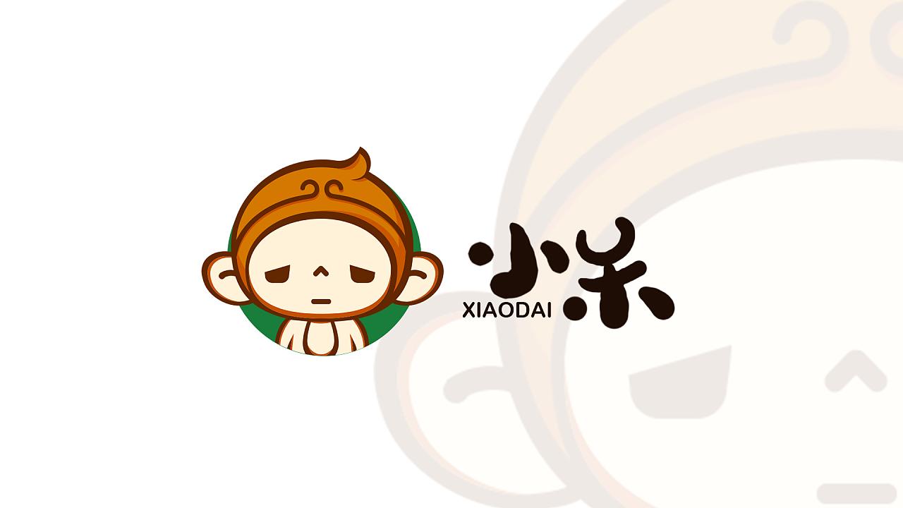 FANG 情侣卡通logo设计 小呆 小代