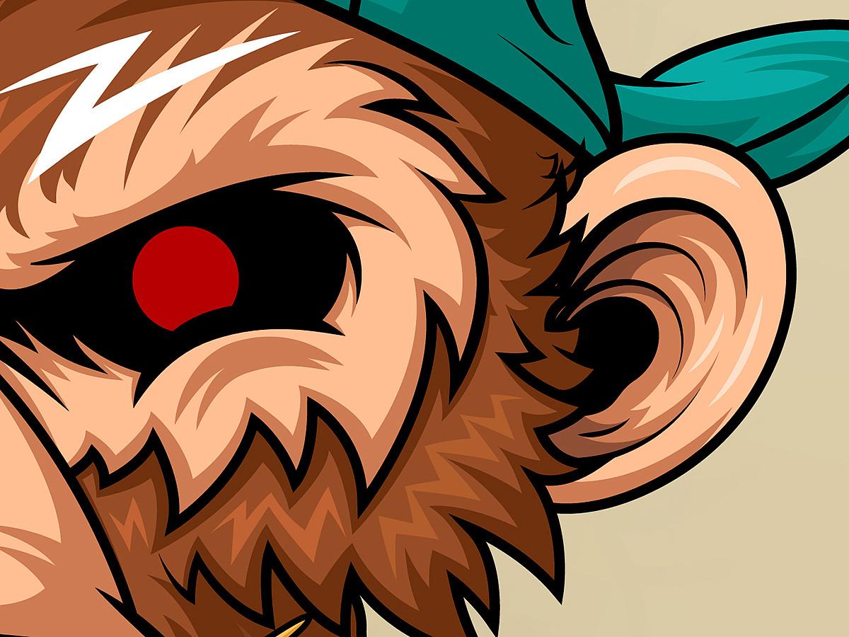 潮流插画 - monkey|平面|图案|亚铜创玩 - 原创作品图片