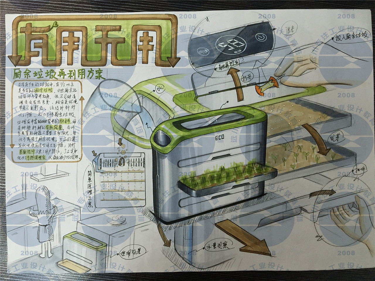 工业设计考研快题,工业设计产品手绘,远川学员手绘作品