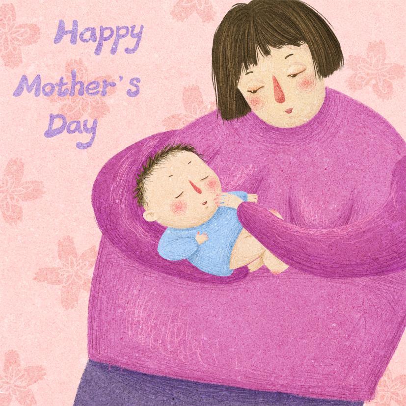 妈妈的怀抱是最温暖的存在图片
