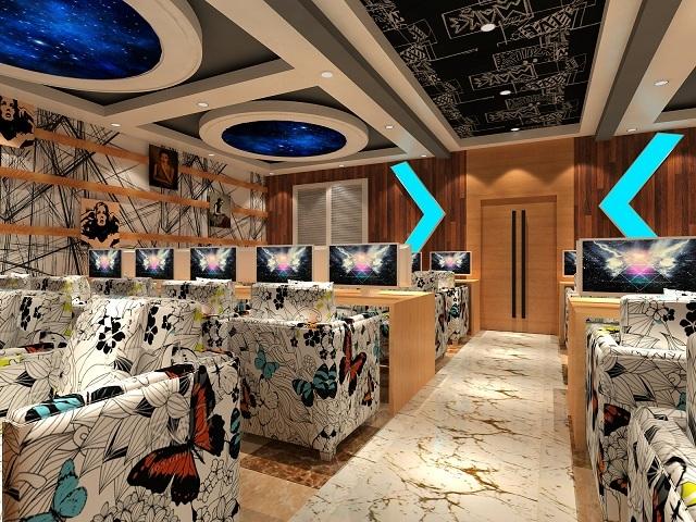 丽江网咖设计 丽江网咖装修设计 丽江网咖设计公司-蓝色矩阵网咖图片