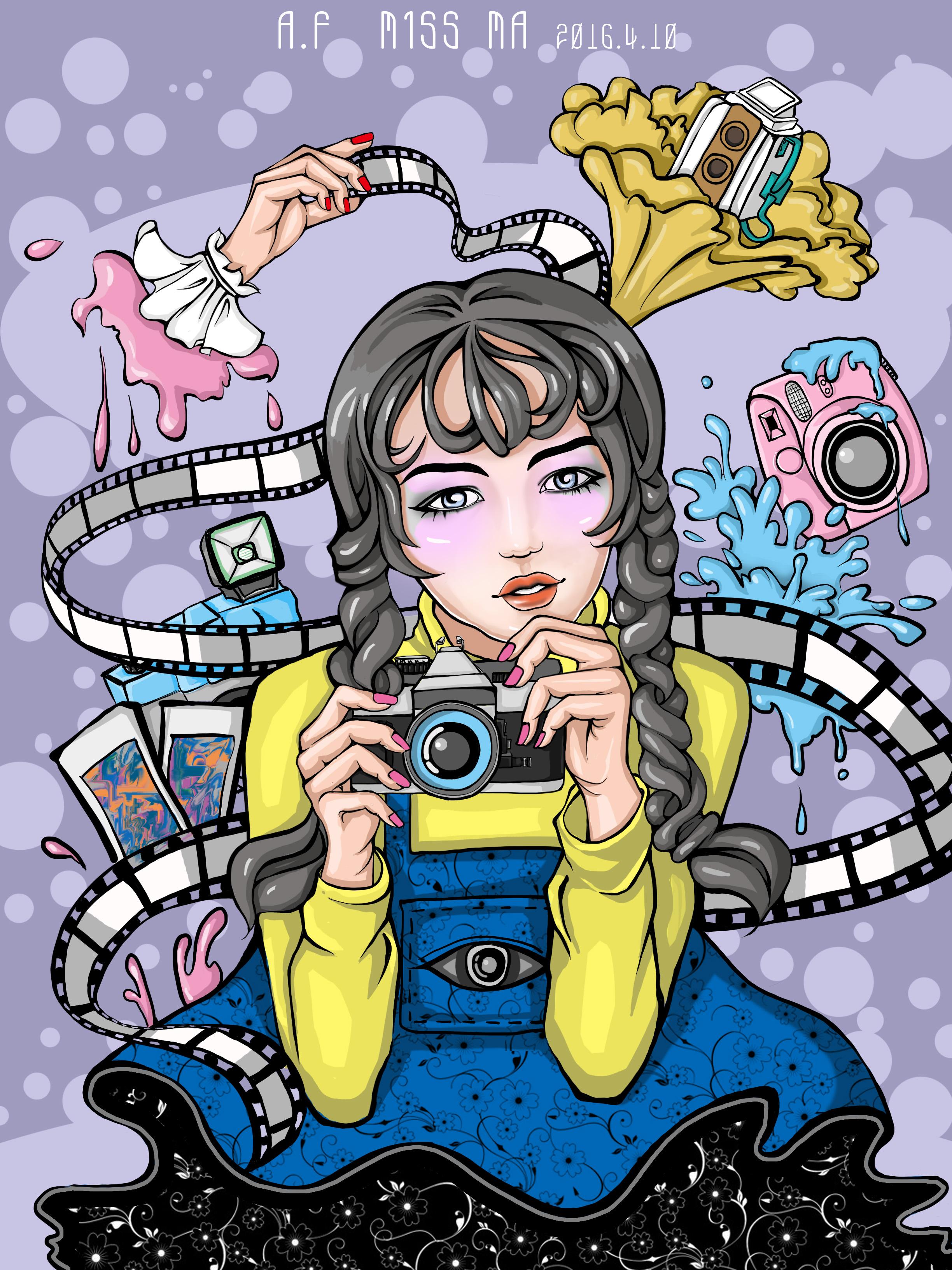 手绘卡通头像相机