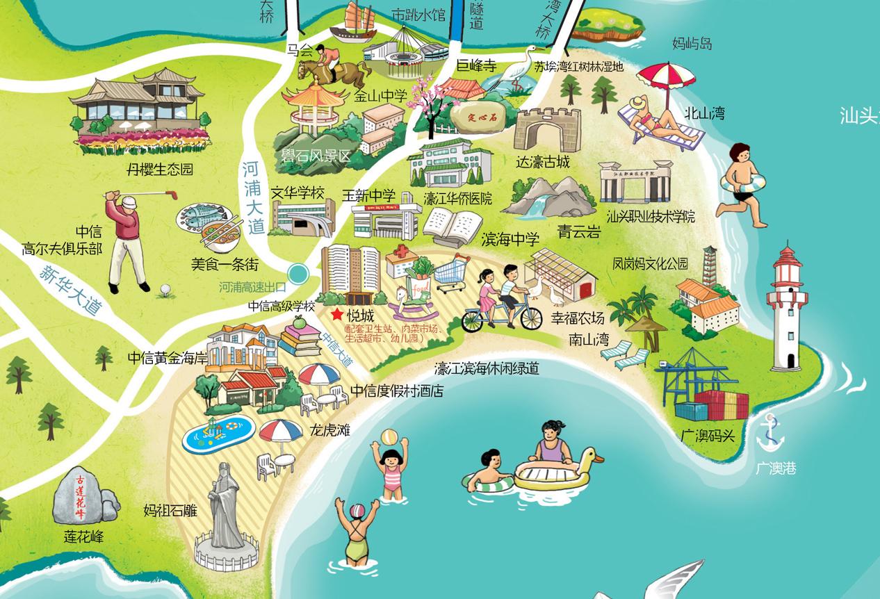 中信悦城手绘地图