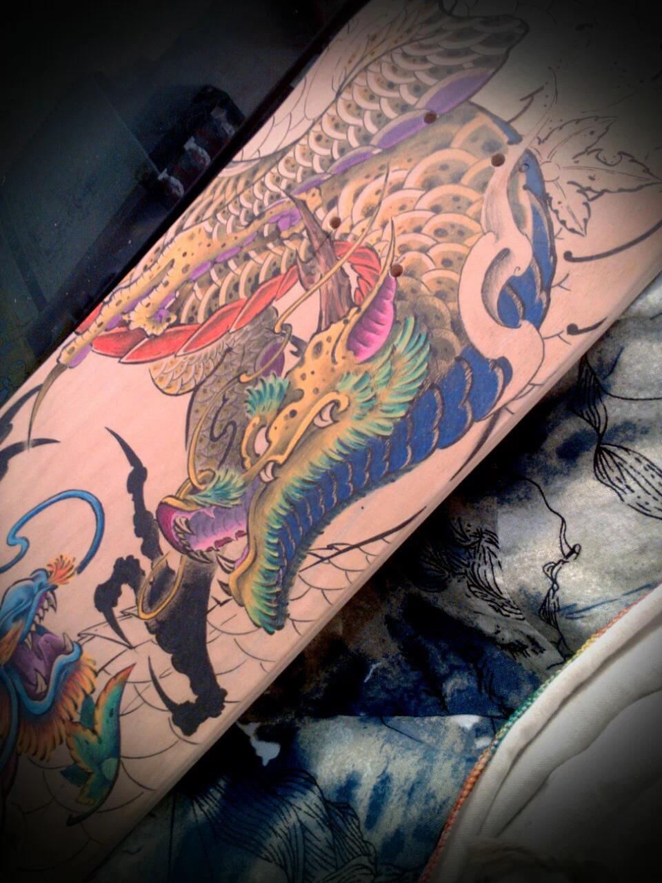 纹身手稿——龙