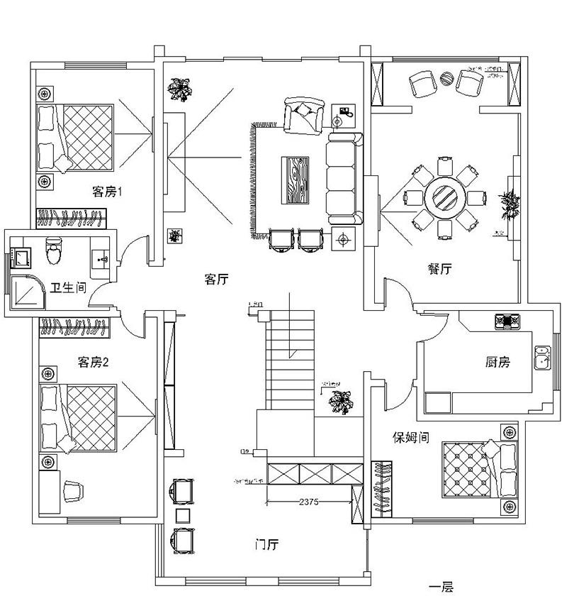 东方今典400平案例所新中式装修别墅|室内设室内设计题图片