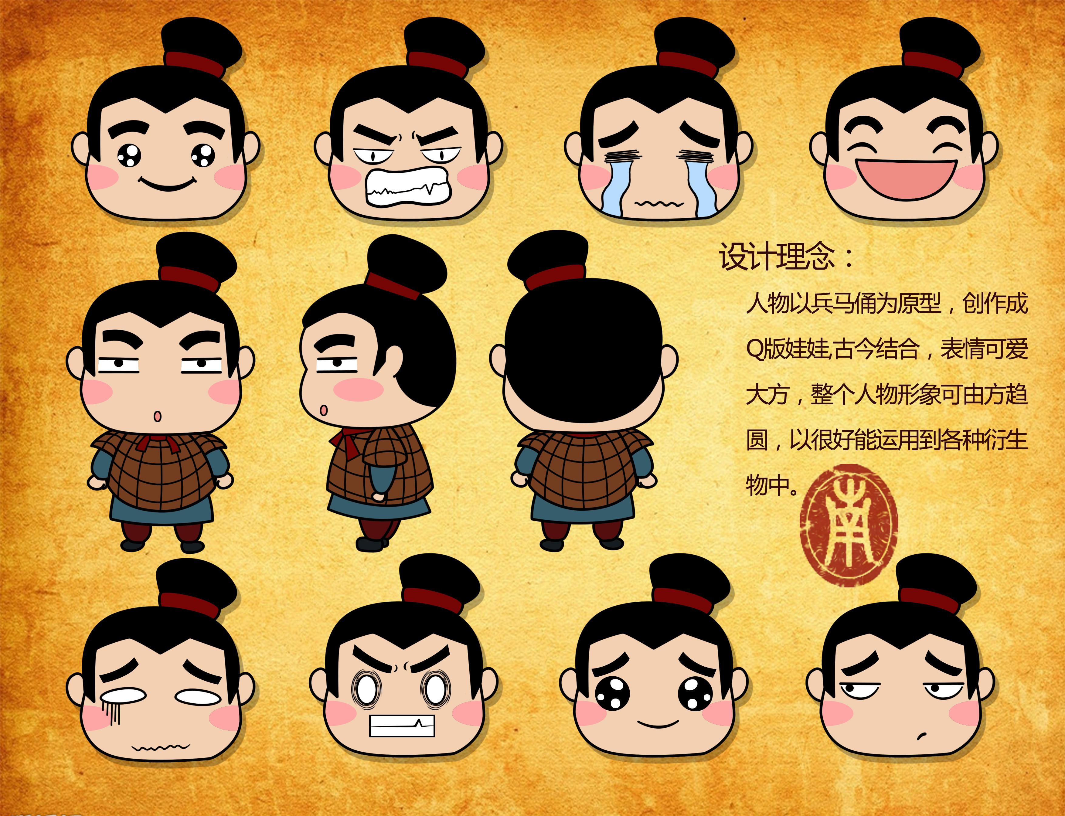 卡通人物及表情设计