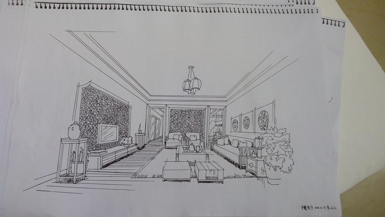 室内手绘|空间|室内设计|9188371007764yxh - 原创