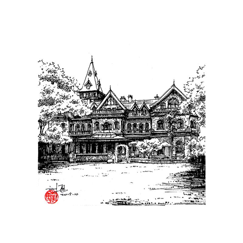 天津老建筑|钢笔画|纯艺术|刘勇手绘 - 原创设计作品