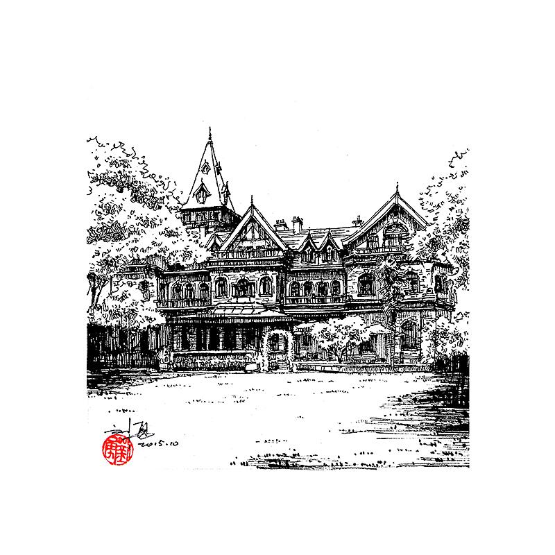 天津老建筑|纯艺术|钢笔画|刘勇手绘 - 原创作品