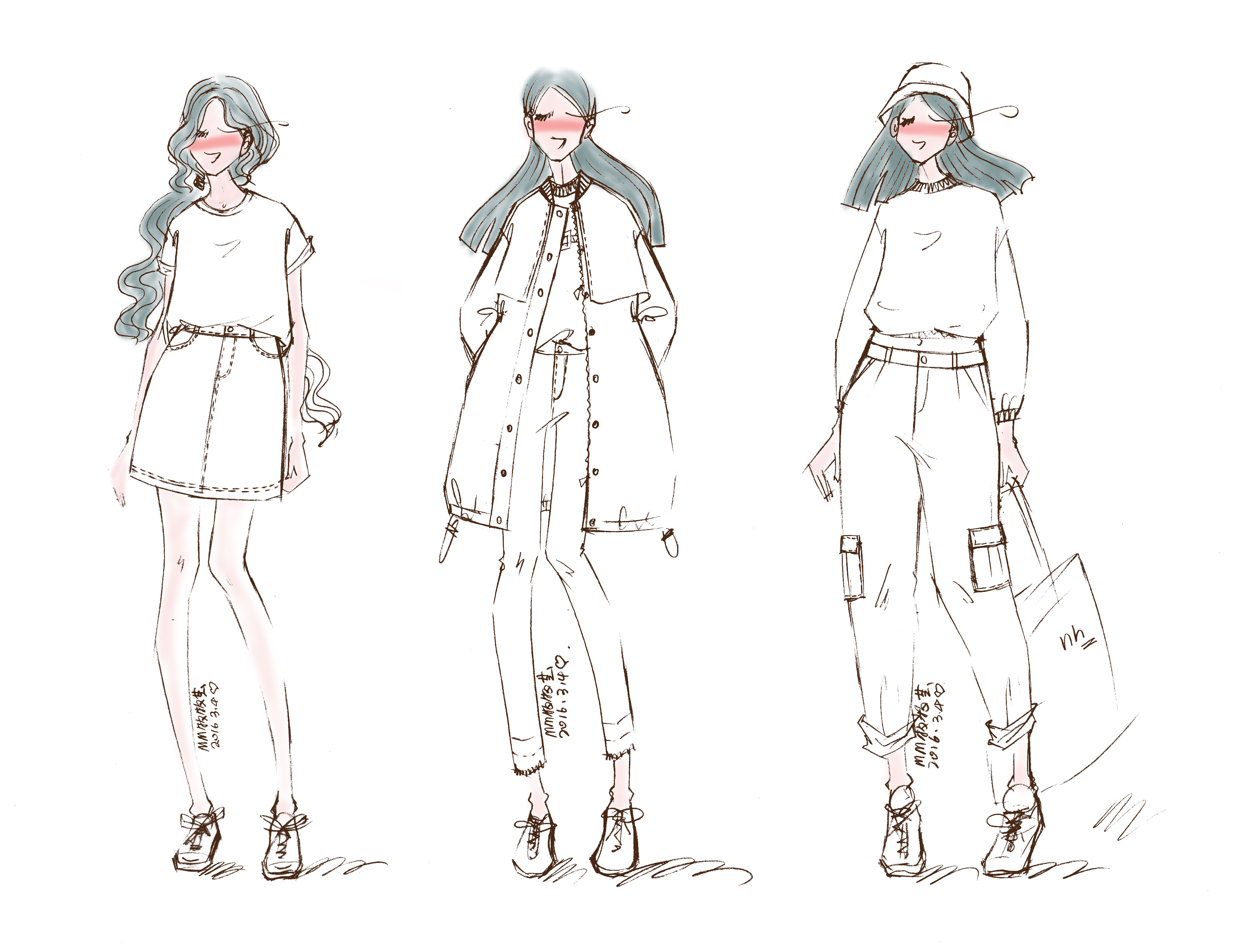 服装设计稿-春篇