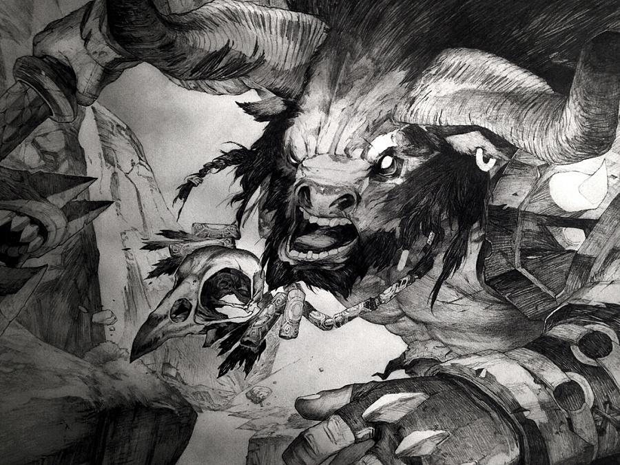 查看《牛头人》原图,原图尺寸:1102x827