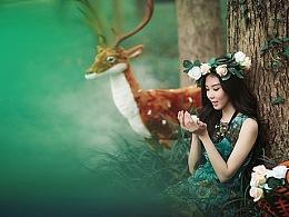 鹿马影像 电商摄影 服装摄影 淘宝摄影   林中仙子