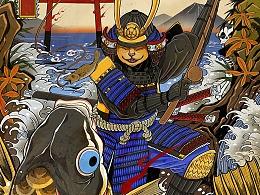 织田猫侍插画