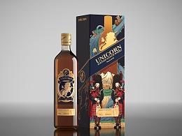 unicorn独角兽牌威士忌包装设计