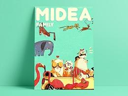 Midea Family 图形创意2018世界杯投注开户