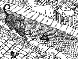 苏武插画写生带创作《春梦》系列的过程