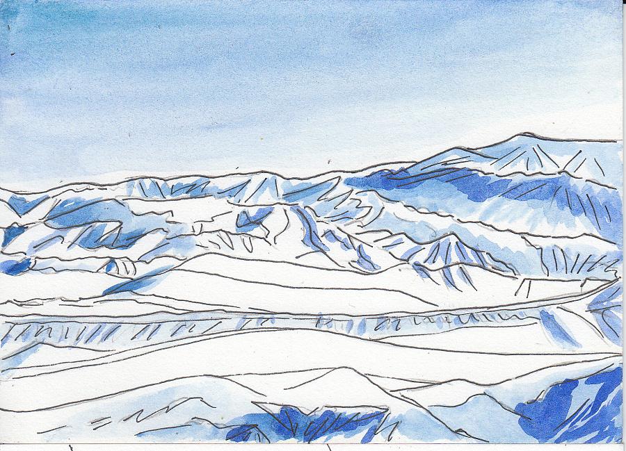 手绘新疆---冬日生活 #新疆#乌鲁木齐