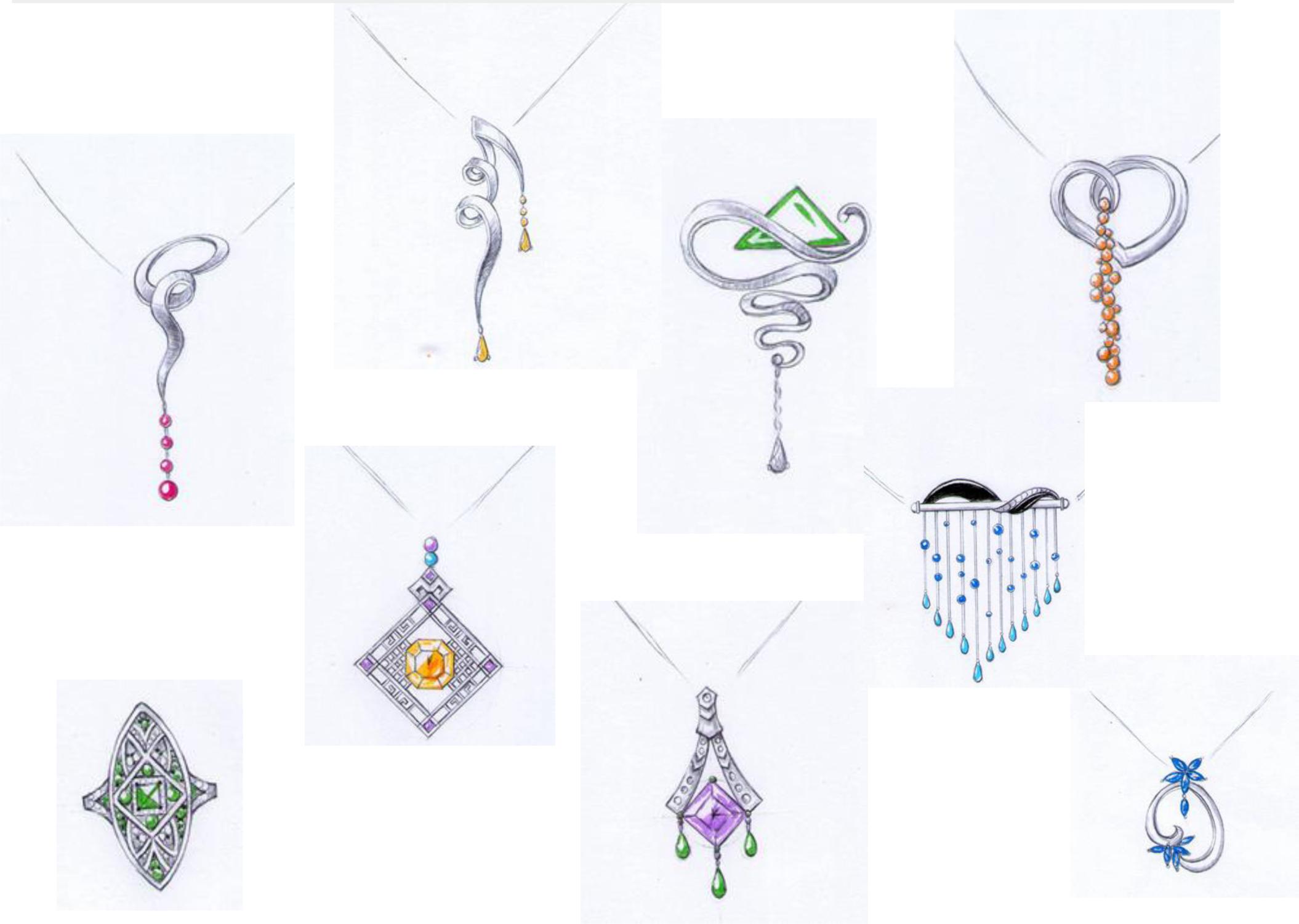 珠宝手绘|手工艺|首饰|hx37 - 原创作品 - 站酷