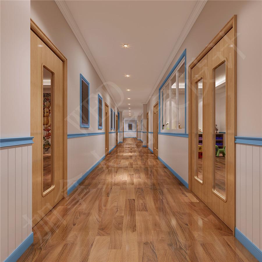 幼儿园装修一般包括: 1.儿童活动的室内部分,一般包括活动单元(活动室、卧室、卫生间(厕所、盥洗、洗浴)、贮藏及衣帽等)和全园大活动室(全园或几班共同活动室,雨雪天作室内操练、音乐舞蹈大教室)。 其中儿童的大部分活动内容在活动室进行,内容的多样性要求室内家具可以有多种组合方式,并要求所创造的建筑空间 为这种多变提供可能,最常见的是正方形和矩形,此外还有不规则形、图形等。