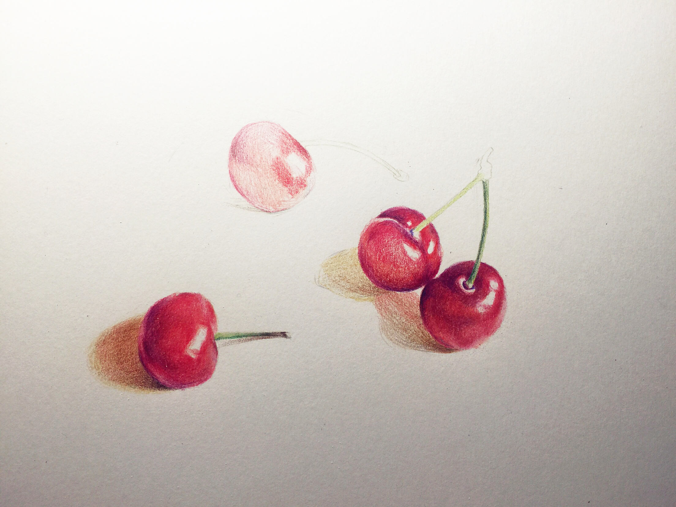 彩铅—大樱桃