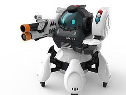 美致智教太空战警六足机器人设计