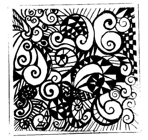 复古花纹手绘