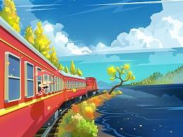 跨越八个时区的列车