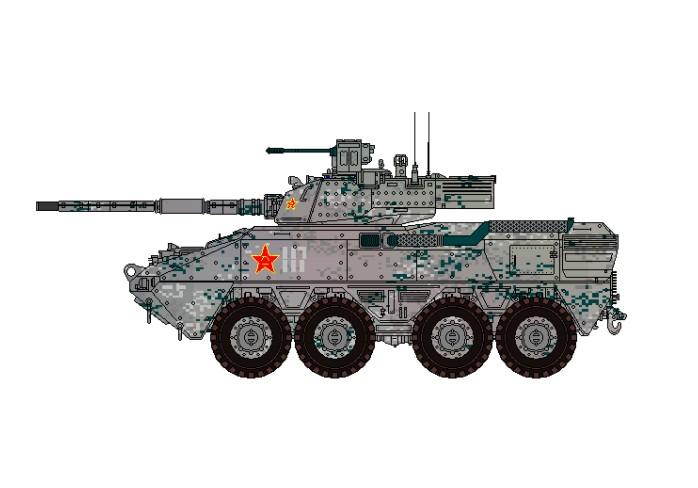 个人yy解放军新型轮式突击炮 像素画 插画 绝望松鼠