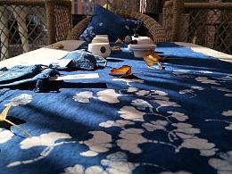 《染工坊》草木染工作室出品蓝染茶席作品