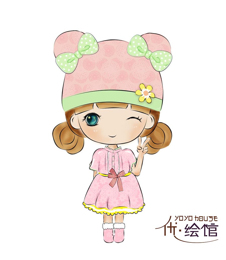 第一次手绘板画q版人物|商业插画|插画|yueyue5315