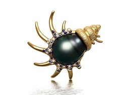 《海螺》异形珍珠胸针作品创作过程