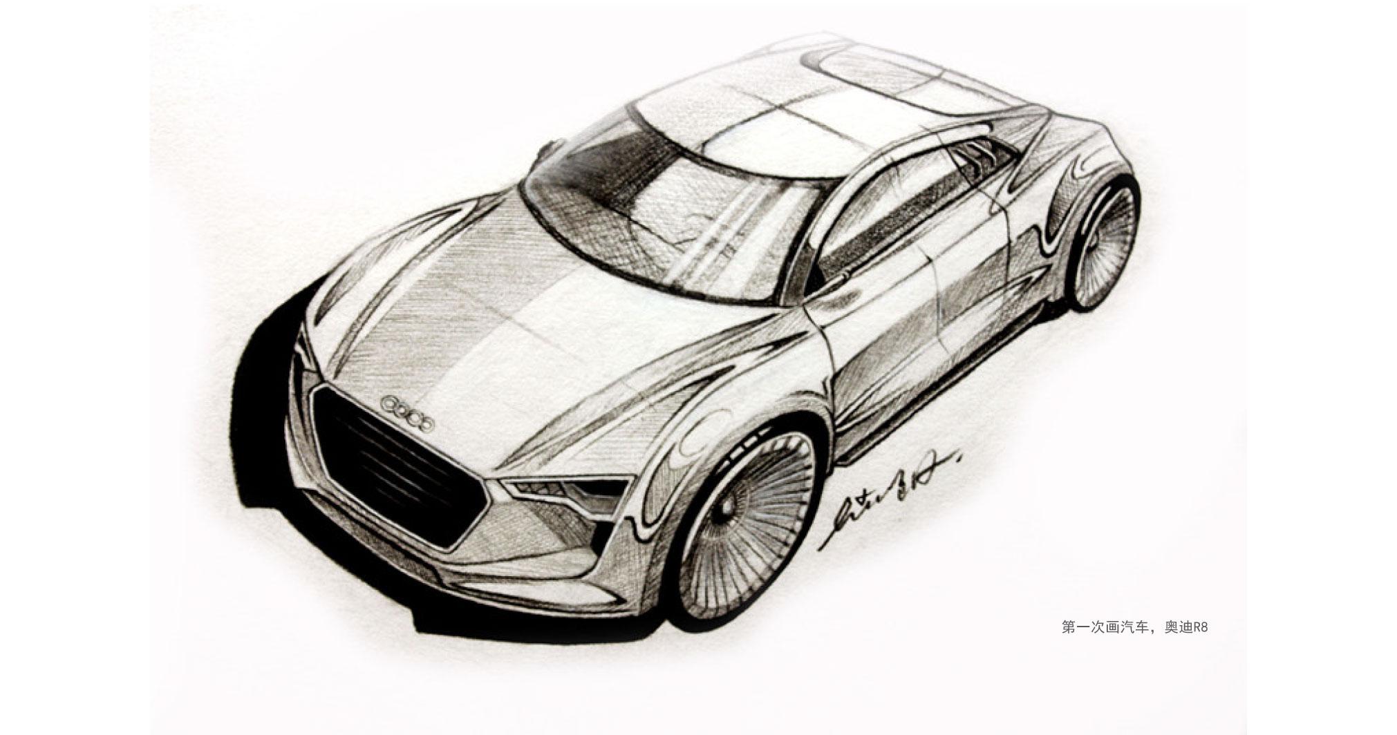 几张车的手绘