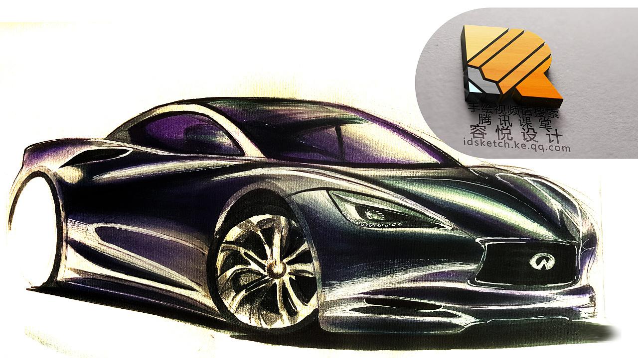 汽车设计手绘表现30——工业设计产品设计图片
