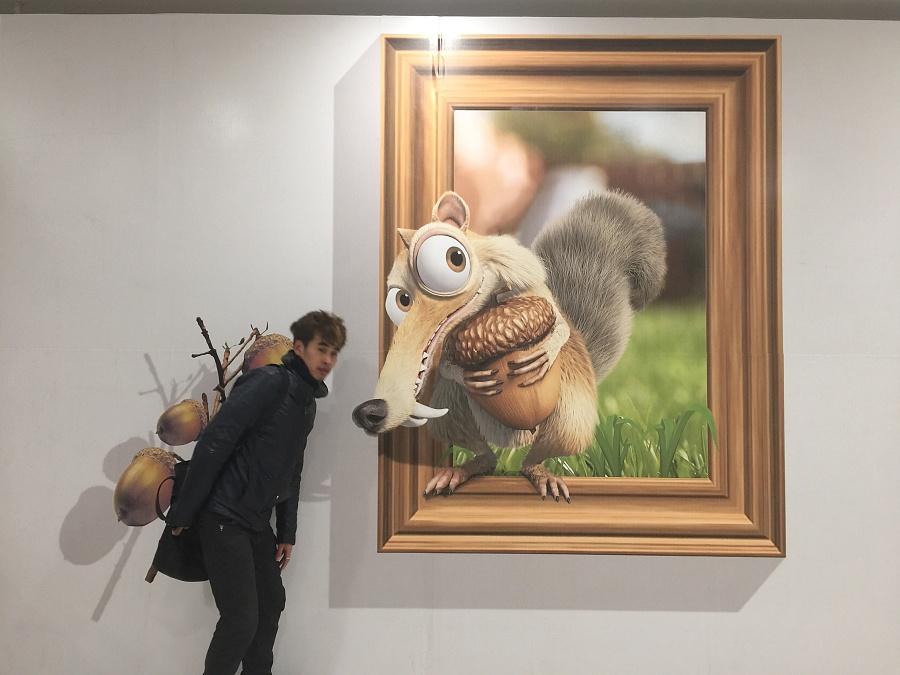 北京纯手绘3d立体画作品展示|油画|纯艺术|京美视觉