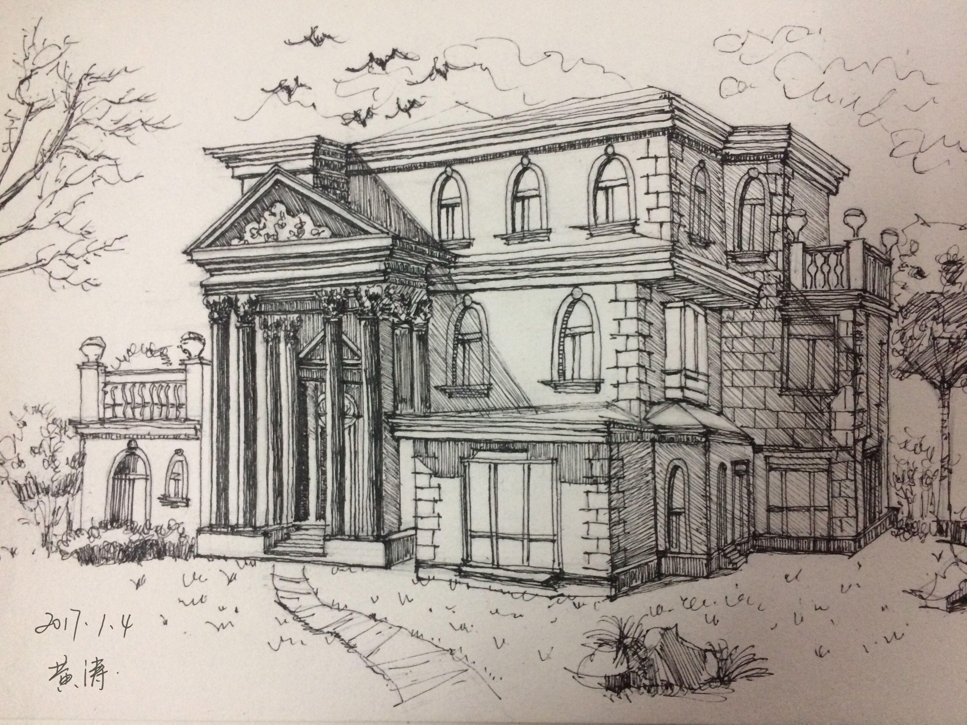 建筑速写 苏州园林 环艺设计|空间|建筑设计|尤尤图片