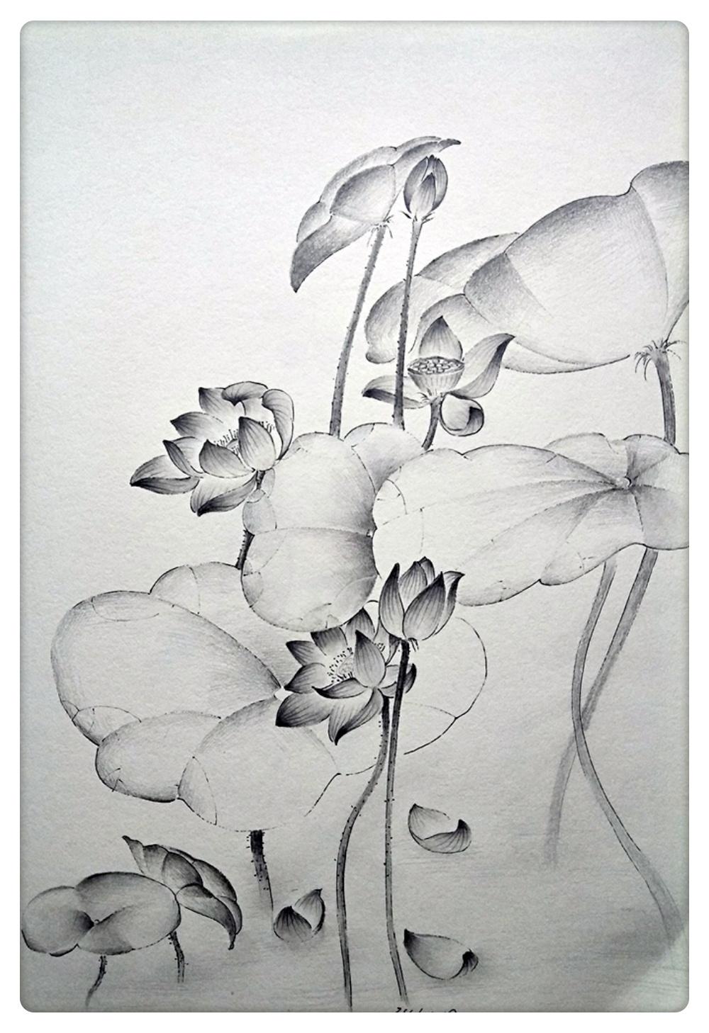 黑白线描风景插画|插画|其他插画|my柠檬 - 原创作品