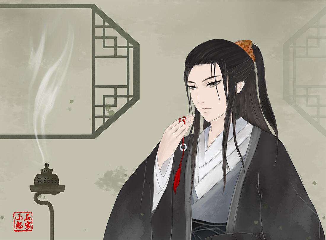 插画 古装男子 古装美男 中国风 古典 古代 古风 帅哥