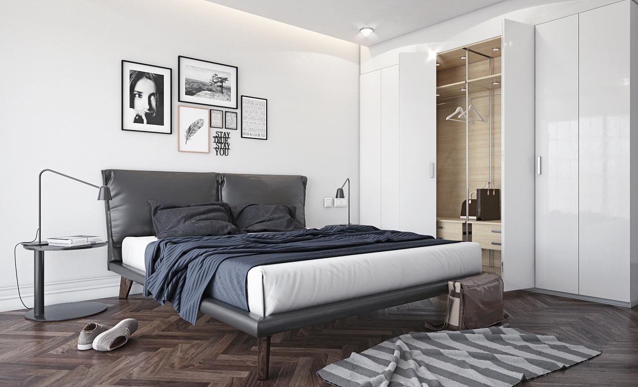 客厅卧室及书房室内空间效果表达