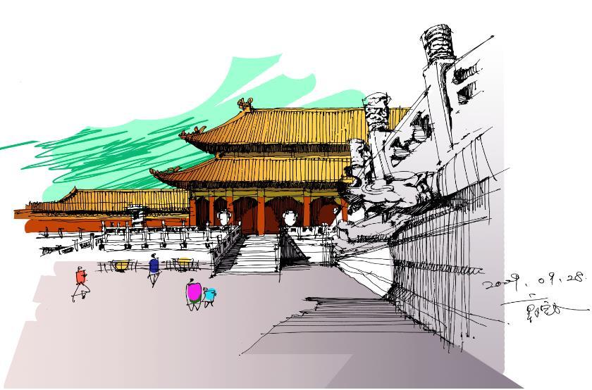 原创作品:手绘北京