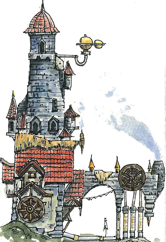 原创作品:手绘建筑