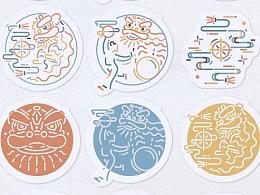 舞狮图标动态图形设计及应用