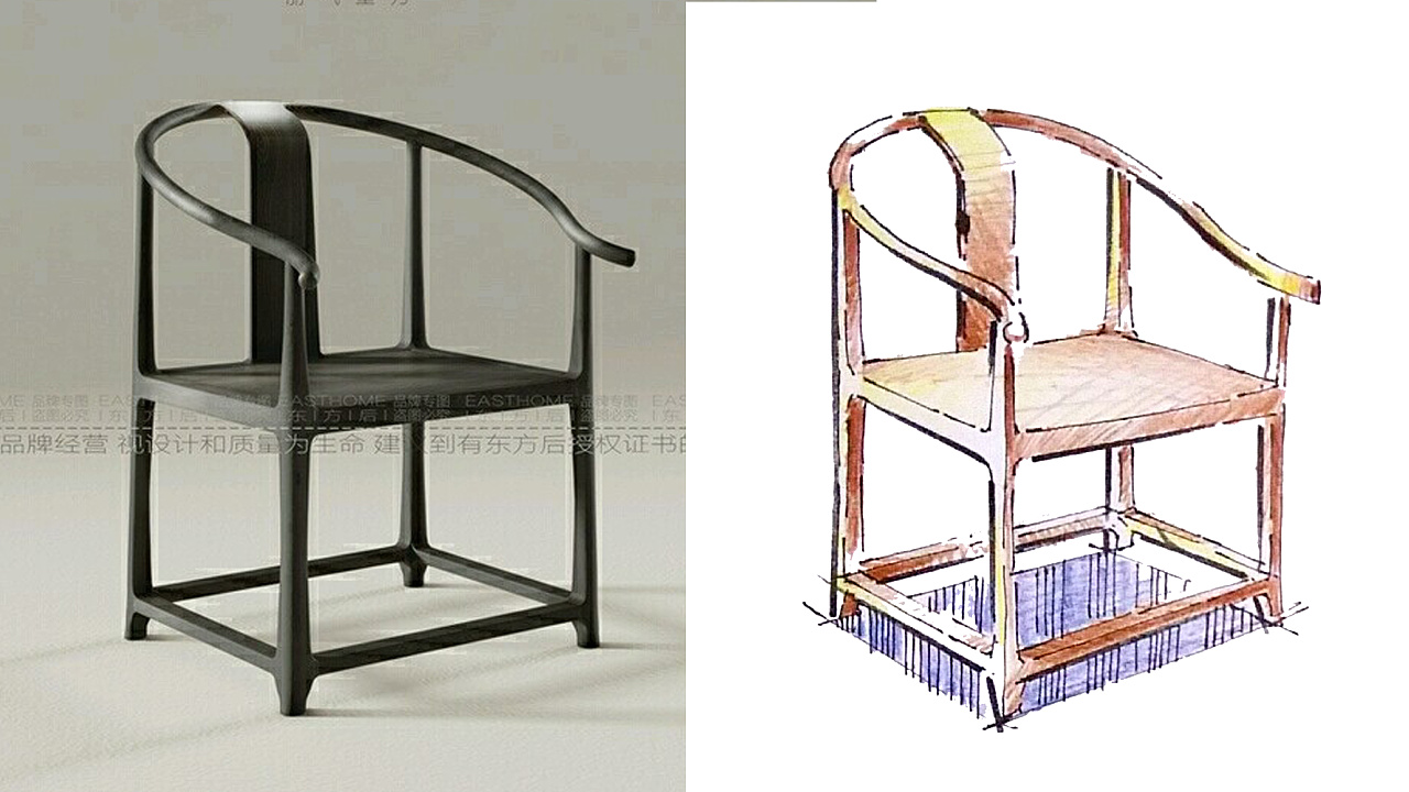 家具手绘_手绘家具快速表现(内附实景图参照)|工业/产品|家具|一叶手绘 ...