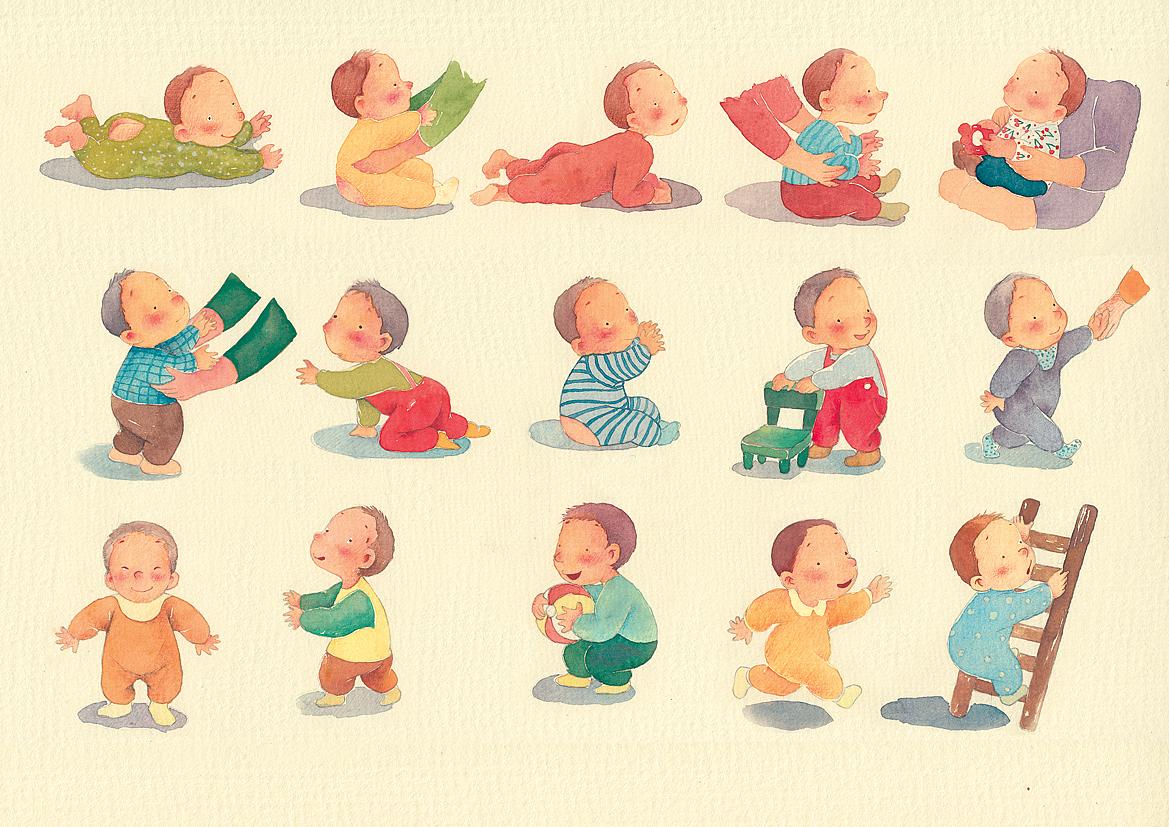 这套为《趣宝宝》画的小册子,画得很开心,就是扫描出来的效果比手绘